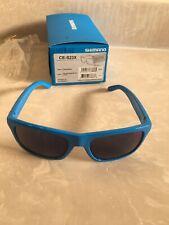 Shimano CE-S23X Sunglasses, Gloss Blue with Smoke Blue Mirror Lenses