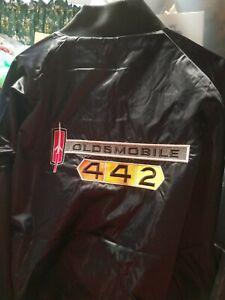 Oldsmobile 442     Black Satin embroidered Jacket Adult   XL