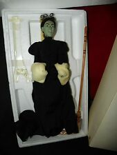 Timeless Treasures WIZARD OF OZ  PORCELAIN DOLL WICKED WITCH with COA and Box
