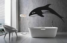 ik1572 Wall Decal Sticker whale dolphin fish ocean bedroom living room bathroom