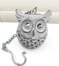 OWL CAST IRON CANDLE HOLDER HANGING ORNAMENT ANTIQUE WASH