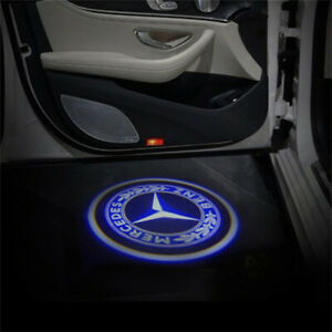 2PCS Wireless Car Door Led Laser Ghost Shadow Projector Light For Mercedes Benz