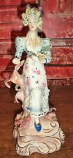 "50s Vintage Rococo Dresden Lace STYLE Cordey(Cybis) Woman -Flowers 10"" Figurine"
