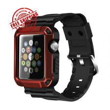 iWatch Strap Band  Screen Protector Case 42mm Apple Watch Series 3 2 1 Red Black