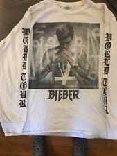 Justin Bieber Purpose 2016 World Tour T Shirt White Long Sleeve XLarge Concert