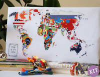 Flags of the World - Map Cross Stitch Kit