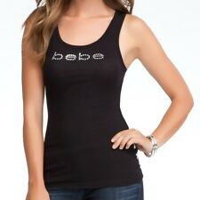 984f5370256 bebe Basic Logo Shirt Tank Top Ribbed Knit Black Plus Size 3x Black  2089p  Y4