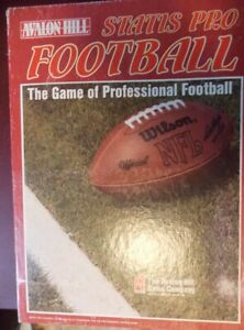 1991 Statis Pro Football Game Avalon Hill 5th Ed. UNPUNCHED