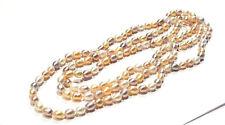 Bijou superbe collier sautoir perles d'eau douce multicolores