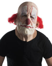 "Clown Mask ""Grumpo The Clown"" Full Over Head Latex Mask With Hair"