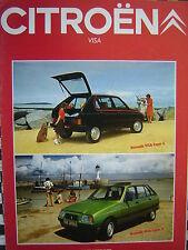 brochure CITROEN VISA SUPER X E CLUB SPECIAL 1981 FRANCAIS