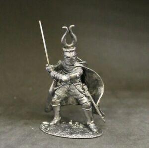 Knight tin soldier 54 mm 1/32  BLACKENED