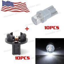 10Pcs 168 T10 194 LED Wedge White Instrument Cluster Gauge Spread Car Light