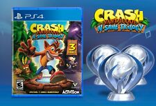 Crash Bandicoot N Sane Trilogy Platinum Trophy (X3) Playstation 4, PS4