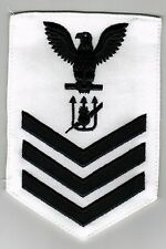 USN WEAPONS TECHNICIAN RATING BADGE - WT1 FOR WHITE UNIFORM NOS OBSOLETE