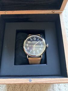 New! Shinola Argonite 1069 Watch Sapphire Crystal Brown 47mm MSRP $550
