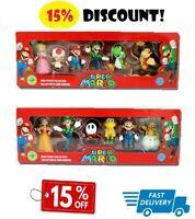 6pcs PVC Super Mario Bros Action Figure Dolls Lot Playset Series Toys Doll