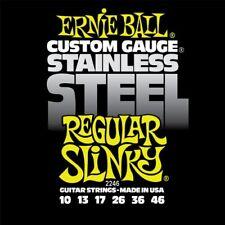 Ernie Ball 2246 Stainless Steel Regular Slinky 10-46 cordes Guitare Électrique