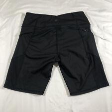 "Athleta || Contender 9"" Shorts Black Large Mesh Compression"