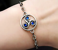 Bdsm jewelry Symbol triskele Metal Chain Bracelet slave Submissive Dominant gift