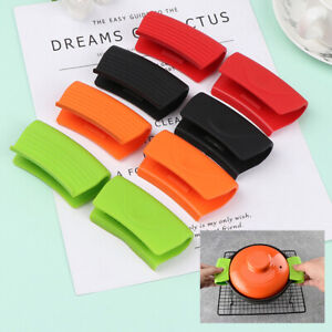 2Pcs Silicone Pot Holder Sleeve Heat Resistant Pot Glove Pan Handle Cover Grips