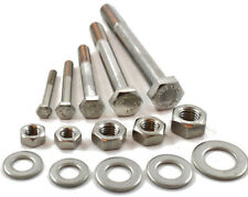 M12 A2 STAINLESS PART THREADED BOLT SCREW + FULL NUT & WASHERS HEXAGON HEX HEAD