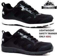 Womens GROUNDWORK Lightweight Ladies Safety Trainers Steel Toe Cap Work Boots SZ