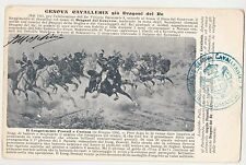 CARTOLINA GENOVA CAVALLERIA GIA' DRAGONI DEL RE RIF. 350/Z