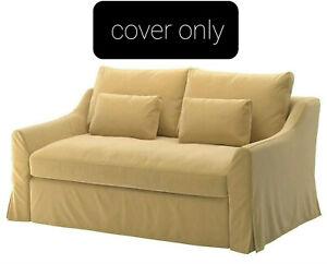 Ikea Farlov Cover for Loveseat Sleeper Sofa Djuparp Yellow Beige Slipcover New