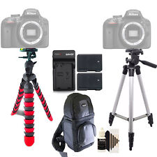 Tall and Flexible Tripod + 2x Replacement EN-EL14 Battery + Cleaning Kit