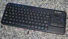 Logitech K400r Black Wireless Keyboard Touchpad W/ USB Receiver Tested Free Ship
