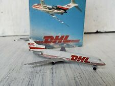 Schabak 1:600 DHL Boeing 727 906 /130 Airplane Model Die-cast W/ Box Germany