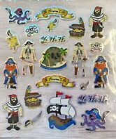 Foil Pirate Stickers Papercraft Planner Party Invites Cards Treasure Gold Skull