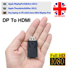 Display Port DP Male To HDMI Female Flat Adapter Converter For PC Laptop Mini UK