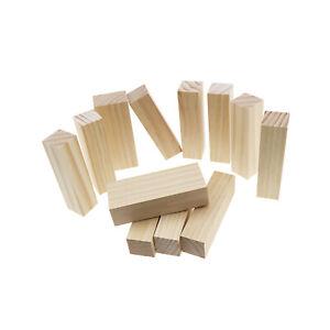 12 Stück Schnitzen Holzklötze Schnitzblöcke Block für Schnitzen Drehen DIY
