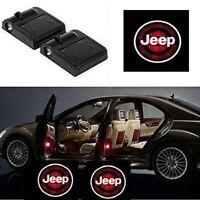 2 Stück Wireless Auto Licht LED Tür Car Willkommen Projector For Jeep Logo