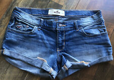 Womens Hollister Jean Shorts Size 7 Cuffed Low Rise