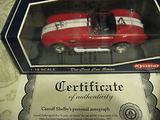 1:18 Kyosho Red & White Shelby 427 Cobra Signed Autographed Shelby