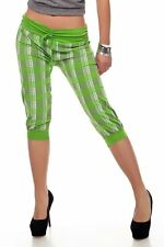 Sexy Miss Ladies Checked Capri Knickers Bermuda Shorts Girly Pump Trousers H