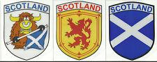 Set of 3 Scozia Bandiera Scozzese Interno Adesivo Finestrino Auto Decalcomanie