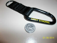 US ARMY KEY RING large Carbiner goarmy.com Army Strong NEW