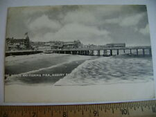 ca.1905 postcard -  The Beach and Fishing Pier, Asbury Park, New Jersey