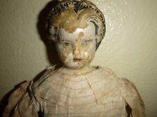 Antique Papier-Mache Head Doll Marked 1858 For Restoration