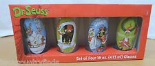 Dr. Seuss How The Grinch Stole Christmas Set Of 4 Glasses With Original Box