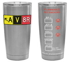AV8R Taxiway Sign Stainless Steel Tumbler! Aviation gift & accessory for Pilots!