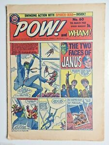 Pow! and Wham! comic No 60 - 9th March 1968 Spider-man Fantastic Four  VG