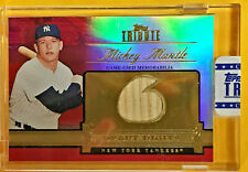 2012 TOPPS TRIBUTE MICKEY MANTLE BAT RELIC CARD #D/10 RARE!! DEBUT DIGITS #DD-MM