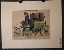 """Lithografie.Karikatur """"Kutsche, Wagon"""" Franz. Kunst C.Pruche, Aubert, Paris 1840"""