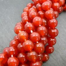 "Carnelian 7-8mm Round Beads 15"" Strand Semi Precious Gemstone"