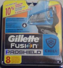 Gillette Fusion Proshield Chill Men's Razor Blade Refills, 8 Ct Less Tug & Pull